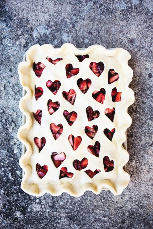 A strawberry tart - the perfect gift when the funds are low.