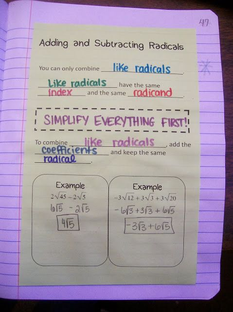 Math = Love: Radical Radicals