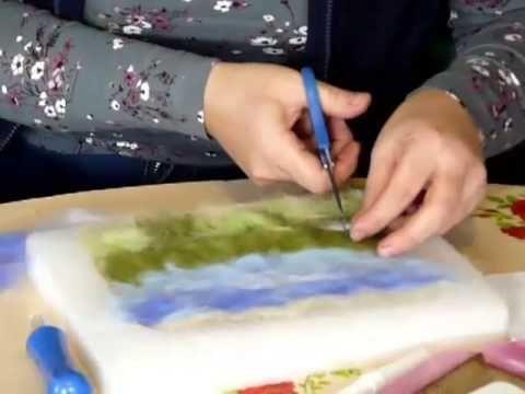 Картины Татьяны и Юлии Глушковых. Шерстяная живопись - YouTube