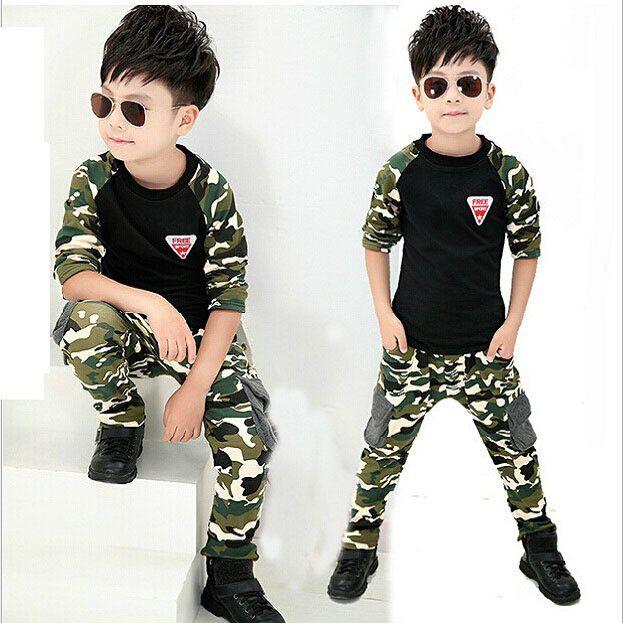 Boys Casual 3Pcs Camo Outfit Set | Fabulous Bargains Galore