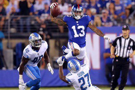 Odell Beckham Jr. Returns but Giants Sputter Against Lions
