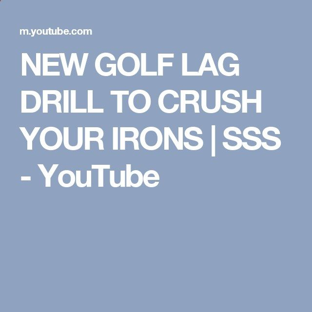 NEW GOLF LAG DRILL TO CRUSH YOUR IRONS | SSS - YouTube
