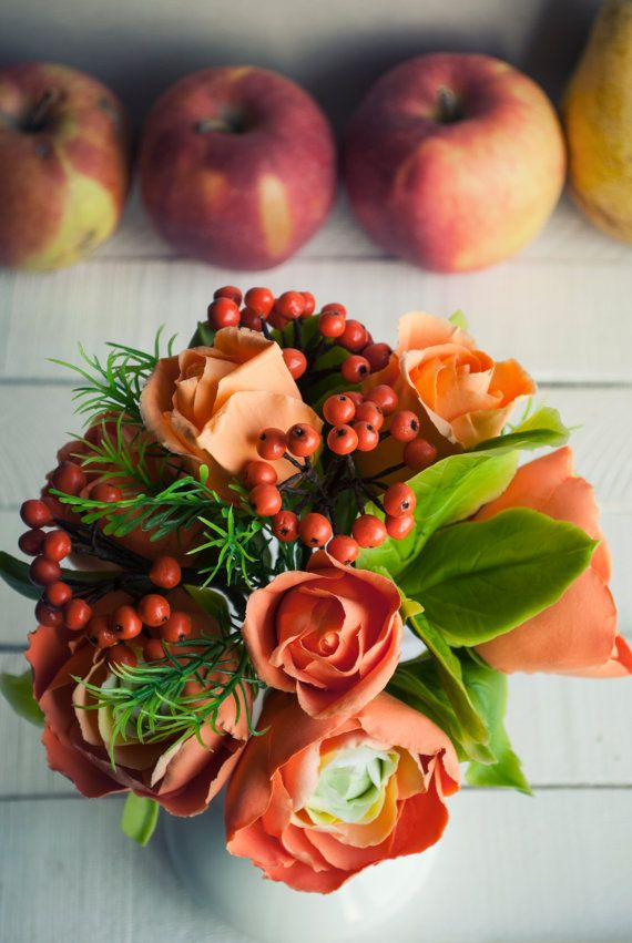 Fall wedding flowers Artificial flower by WowBloomRoom on Etsy