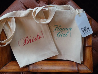 Customized bags for guests and/or the bridal party by Pamela Fugate Designs make great welcome amenities.