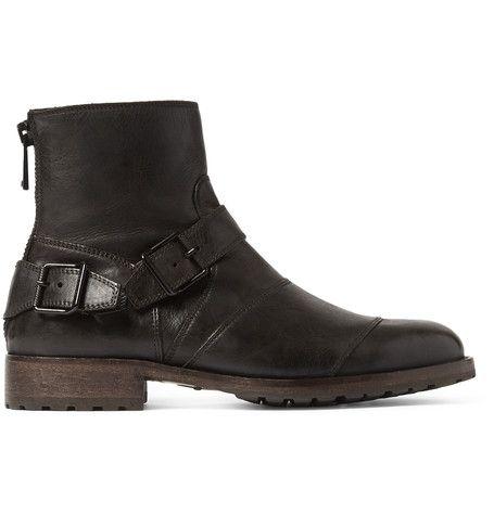 Belstaff Trialmaster Leather Boots   MR PORTER