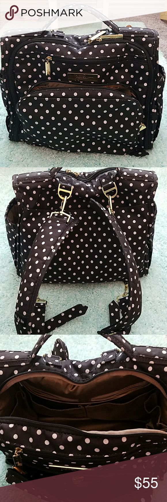 Jujube diaper backpack Black and white polka dot diaper bag jujube Bags Baby Bags