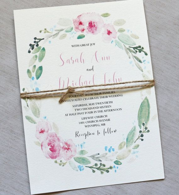 Elegant Floral Wedding Invitation, Rustic Wedding Invitation, Modern Wedding Invitation, Modern Rustic Wedding Invitation, Blush Pink Impress your wedding guests with this stunning elegant rustic modern invitation. The modern floral design is Printed on off white cardstock. Tied with jute twine. Coordinating items such as programs, place cards, menus and more also available.  THIS IS THE DEPOSIT TO START THE ORDERING PROCESS AND GOES TOWARDS THE ORDER TOTAL  -------- WHAT IS INCLUDED…