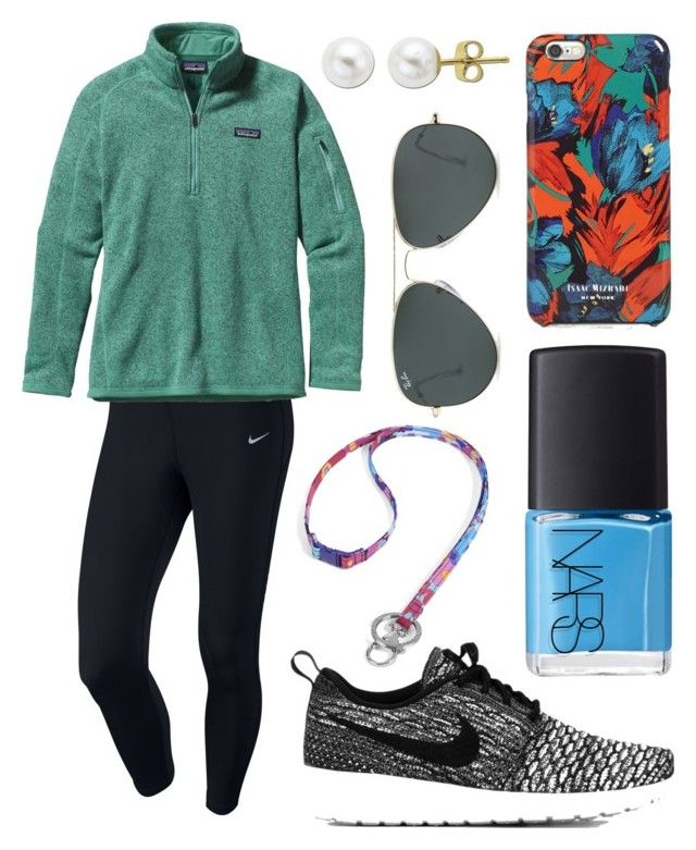 """Situation: no motivation"" by emmacaseyyyy ❤ liked on Polyvore featuring NIKE, Patagonia, Vera Bradley, NARS Cosmetics, Isaac Mizrahi, Ray-Ban and Lord & Taylor"