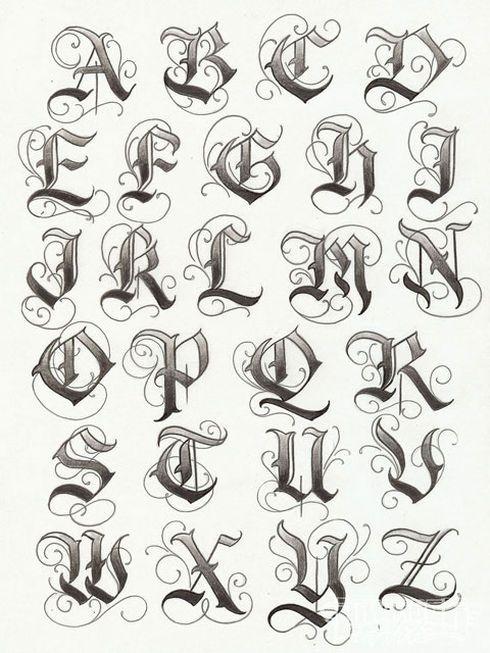 Texas Letters Tattoo Designs