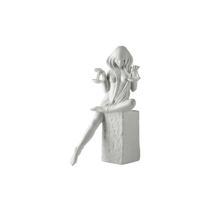 Znaki zodiaku - Waga - wersja kobieca, biała - Manufaktura Stylu