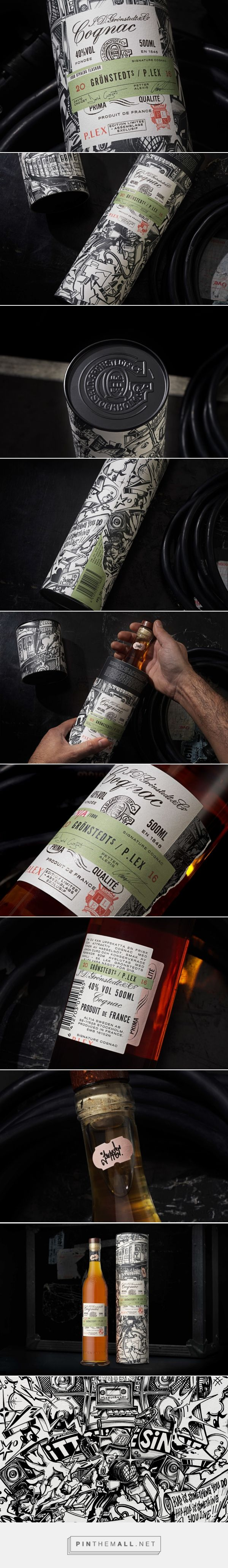 Grönstedts / P. Lex Signature Cognac packaging design by NINE - http://www.packagingoftheworld.com/2017/03/gronstedts-p-lex-signature-cognac.html