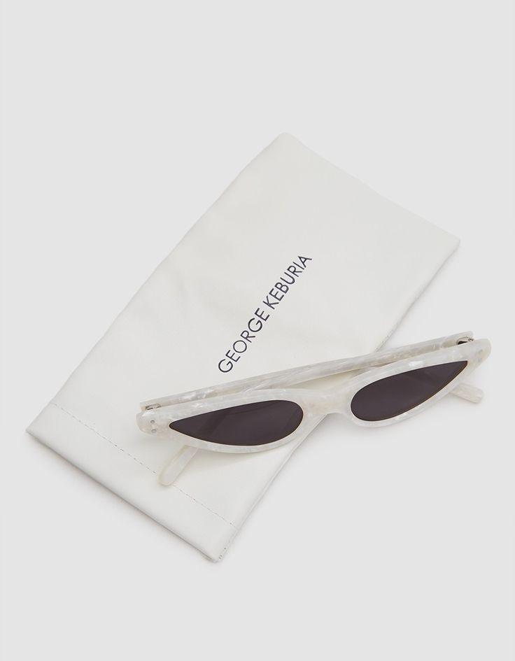 Sunglasses in Pearl White $200