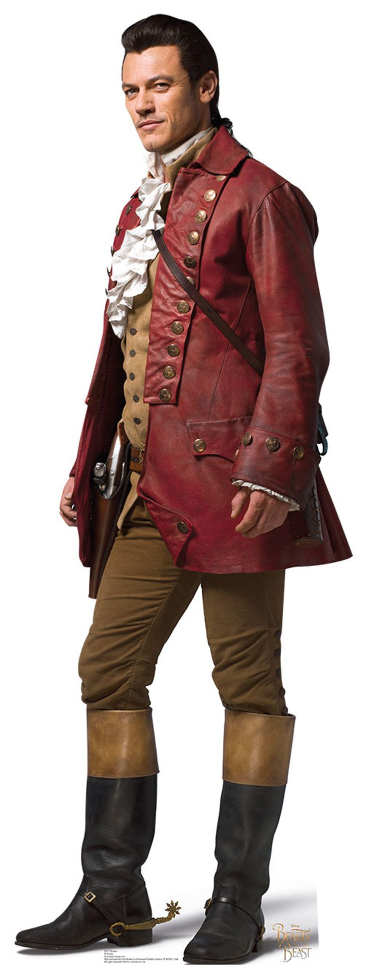 "GASTON Cardboard Cutout Standup / Standee from Disney's ""Beauty and the Beast (2017)"" 
