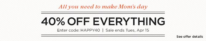 40% OFF EVERYTHING at Shutterfly! Now - 4/15 FREE Economy Shipping! Now - 5/1