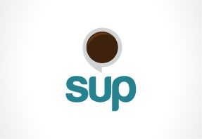 sup logo for meet some people aplication in mobile #design  #logodesign #logo #applogo #aplicationlogo #mobilelogo #competition