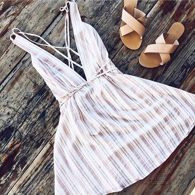 Pretty little dress for any occasion || Shop the Crossroads Dress (Pink) SHOP DRESSES --> www.muraboutique.com.au #muraboutique #fashion #stripes #style #dress #cute #girly #flatlay #summer #coastal #flats #shoes
