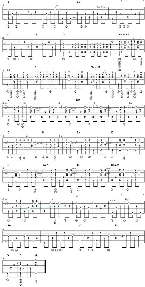Every Breath You Take - fingerstyle guitar tab 2 | Guitar chord ...