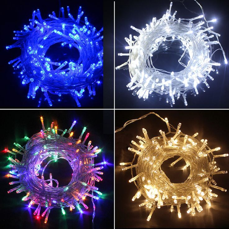 50/100/200/300/400/500 LEDs Weihnachten Batterie LED Lichterkette Kette Leuchte