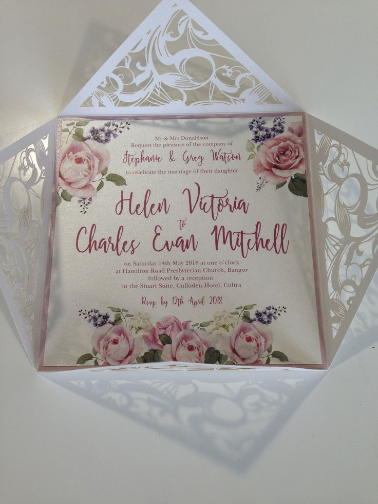 lotus flower wedding invitations%0A Flowers wedding invitation with laser cut www whitelacestationery co uk