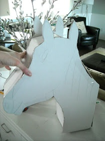Keep Home Simple: How to Make a Homemade Pinata for Under 5 Dollars....a horse head would be great st a Godfather party ;)