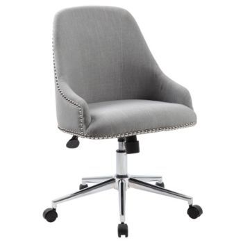 Retro Office Chair in Fabric with Nailhead Trim - 8803059 and other Browse All Office Furniture