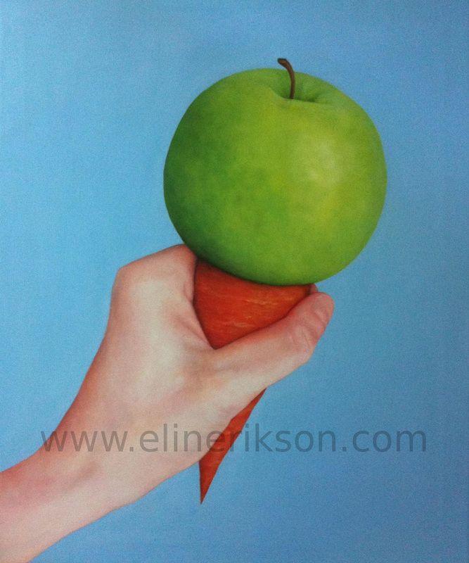 Love fruits? Raw icecream. Oil on canvas