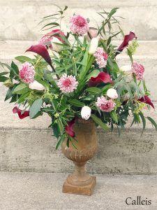 Vase Médicis, bouquet de mariage