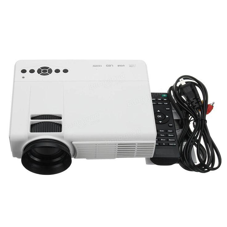 3D HD 1080P 3000Lumen Home Theater Multimedia PC VGA USB HDMI LED Projector Sale - Banggood.com