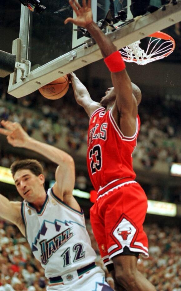 May 6, 1998 Michael Jordan becomes the first player in history to be selected to the NBA All-Defensive First Team nine times when the NBA announced the 1997-98 NBA All-Defensive First and Second Teams. #Jordan #MichaelJordan #NBA #ThisDayInSports #SportsHistory #May6 #Bulls #AirJordan #eBay www.stores.ebay.com/G-Sports-Enterprises