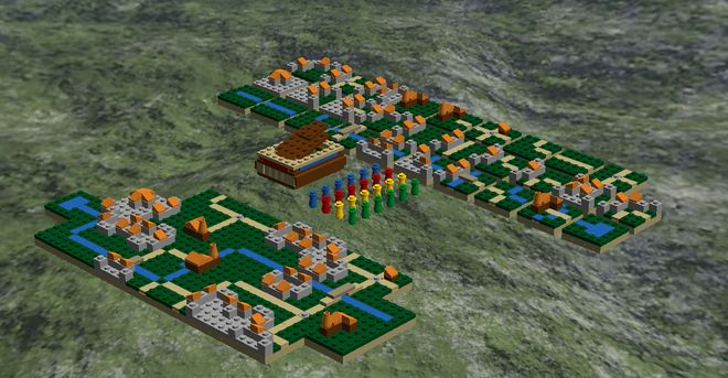 LEGO Ideas - Carcassonne Board Game Tiles and Followers Set