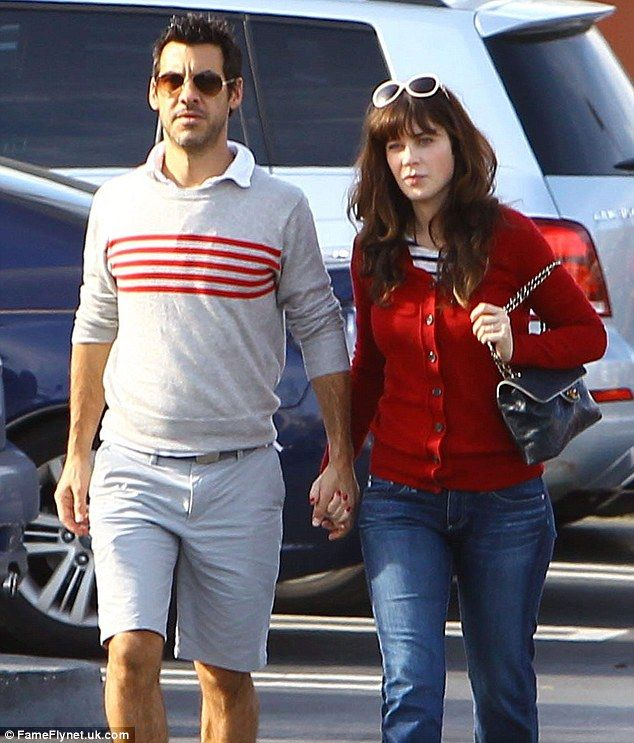 Gearing up for the holidays: On Sunday Zooey Deschanel was spotted out running errands with her producer boyfriend Jacob Pechenik