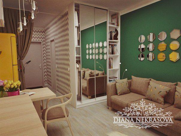 #Interior #интерьер_маленькой_квартиры