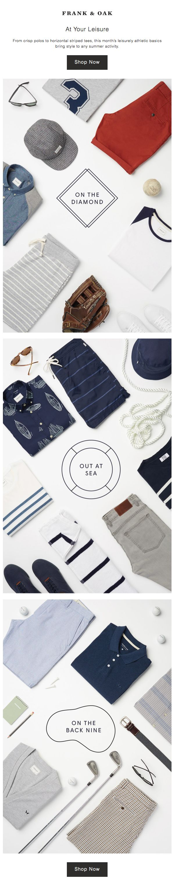 Loves Data Loves || Email Marketing || Frank Oak : Laydowns | Flatlay #flatlay #emailmarketing
