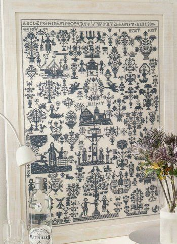 Sampler 1830 - Cross Stitch Pattern  by Permin