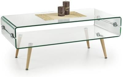 Designový skleněný konferenční stůl H1015
