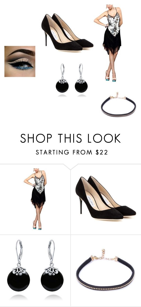 """Ballroom dancing"" by ellsparkin ❤ liked on Polyvore featuring Jimmy Choo and Bling Jewelry"