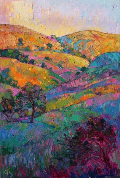 Paso Robles wine country oil painting landscape by impressionist Erin Hanson