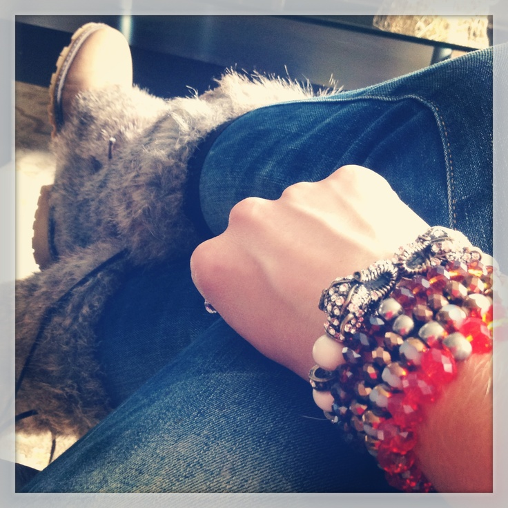 Crystal bracelets, Cata saldarriaga Jewelry.