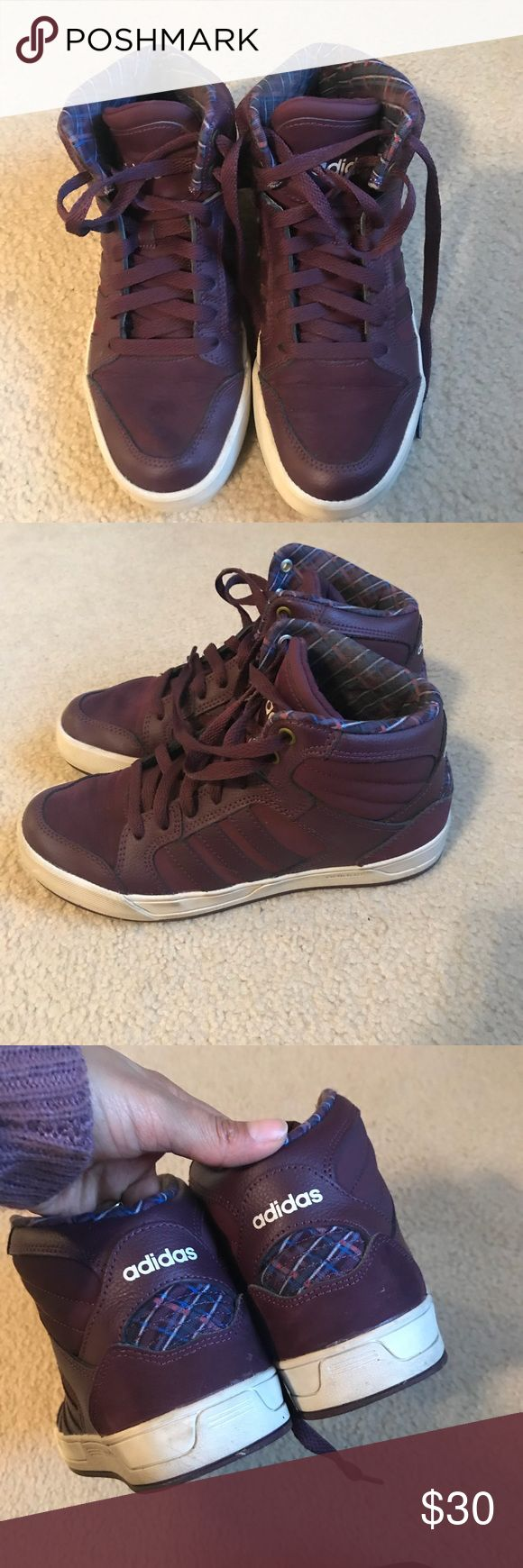 Adidas NEO high tops Good used condition they just need a little cleaning adidas Shoes Sneakers