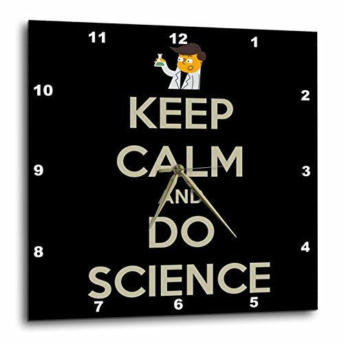 3dRose dpp_159616_2 Keep Calm and Do Science Professor Chemistry Teacher Wall Clock 13 by 13Inch * Click image to review more details.