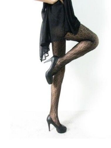 d9a790145c176 BLACK LACE PATTERNED TIGHTS 12 STYLES NEW FASHION HOSIERY FAST FREE POST # TIGHTS#PATTERNED#BLACK