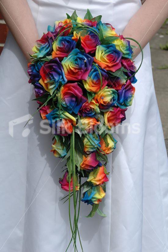 Vibrant Multi-Colour Rainbow Rose Gay Pride Wedding Buttonhole Vibrant Modern Multi-Colour Rainbow Rose Gay Wedding Buttonhole [Rosetta - Buttonhole] - £9.99 : Silk Blooms UK