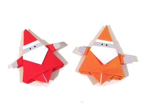 Christmas Origami Santa Claus - How to make an easy origami Santa Claus - YouTube