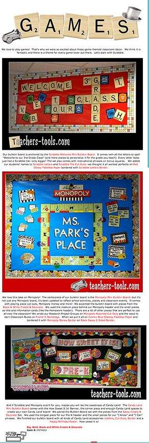 Great Board Game decor -  Monopoly, Scrabble, and Candlyand