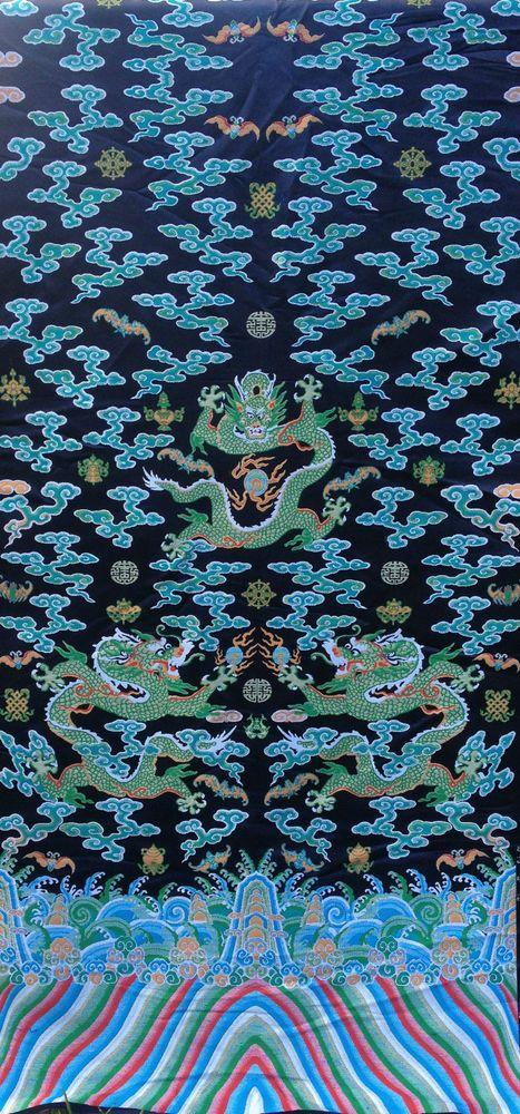 eBay $129 2 metres long chinese Dragon robe silk brocade fabric Chinoiserie decor !NEW!