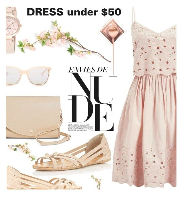 """Dress Under50"" by shoaleh-nia ❤ liked on Polyvore featuring Miss Selfridge, Cesca, Smith Optics and Nine West"