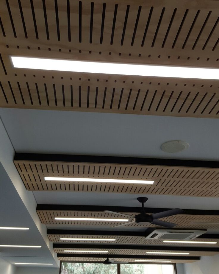 Slotted acoustic ceiling panels made to order