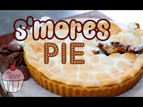 S'MORES PIE RECIPE | Chocolate Marshmallow Pie Dessert | My Cupcake Addi...