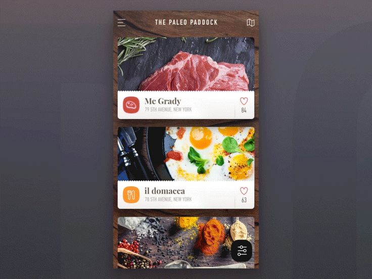 Paleo Paddock - ios application (filter animation) by Stano Bagin for PLATFORM
