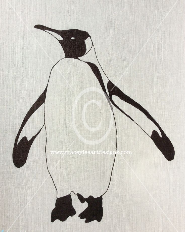 Practicing my penguins today.  www.traceyleeartdesigns.com  #art #drawing #penguin #illustration #